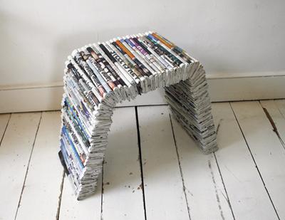 X Days Project Newspaper Furniture By Oscar Lhermitte