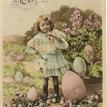 French vintage Easter postcard