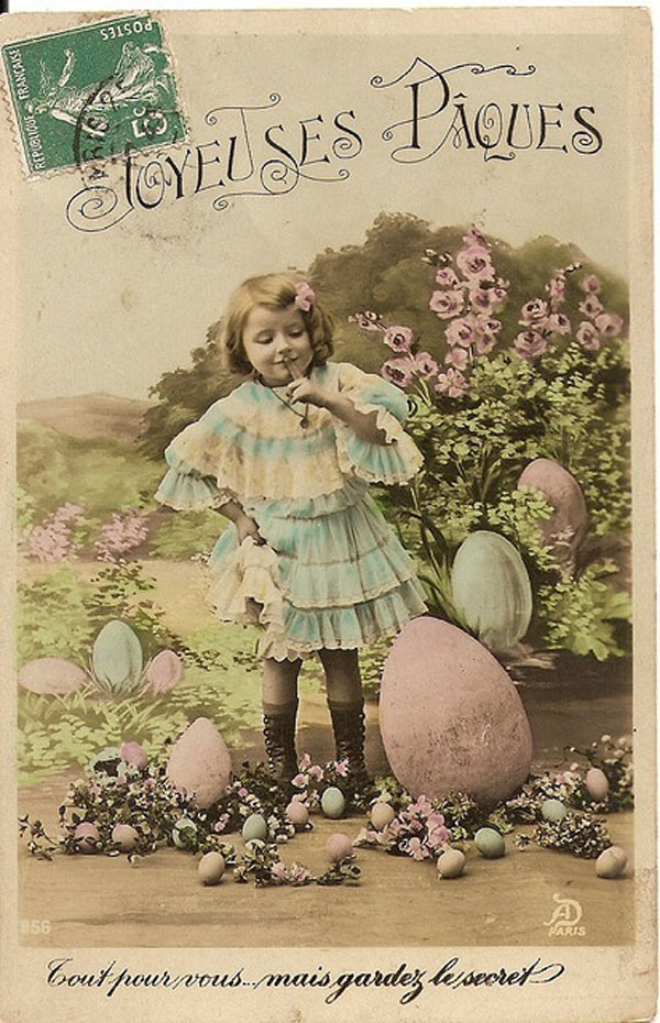 French vintage Easter postcard