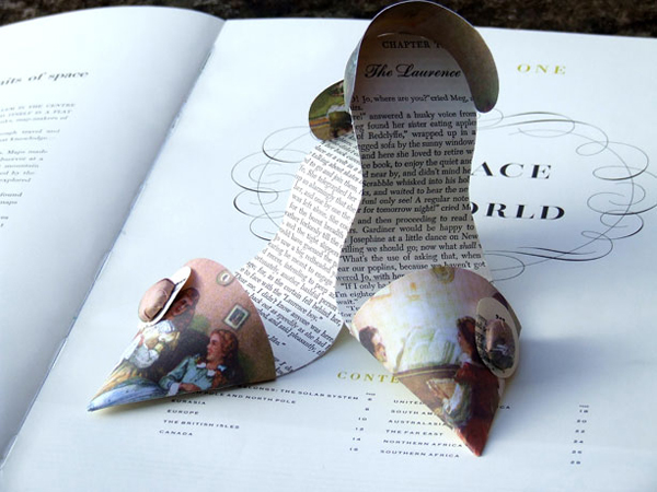 Paper shoes by Jennifer Coliier