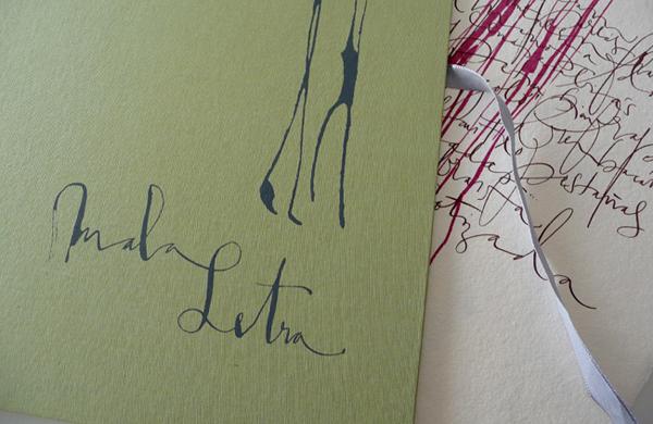 Silvia Cordero Vega calligraphy