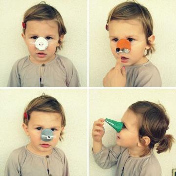 DIY animal noses, Halloween