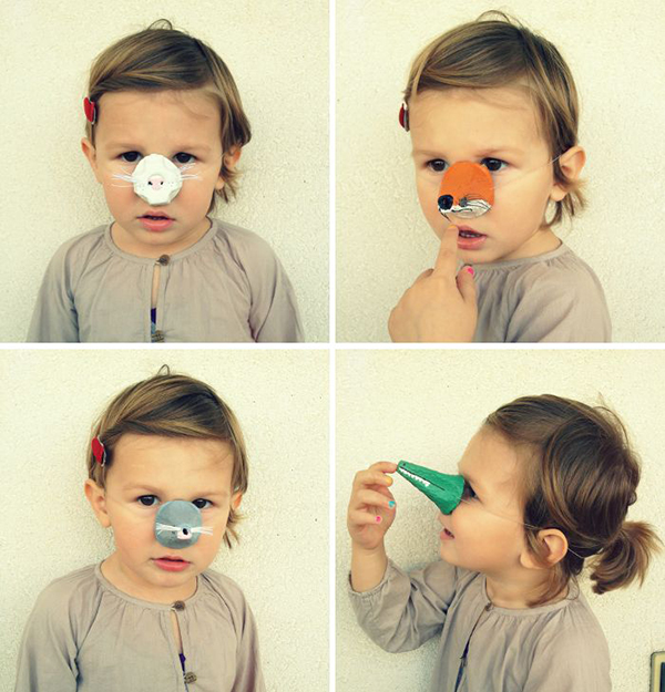 DIY animal noses, Halloween