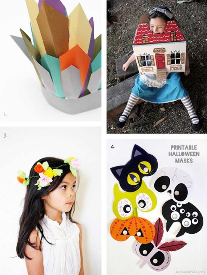 paper halloween costumes kids