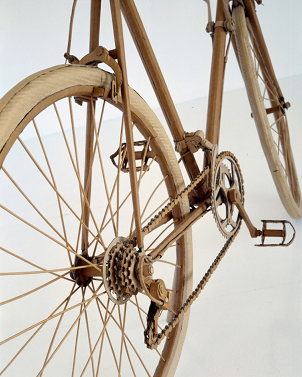 Chris Gilmour cardboard bycicle detail
