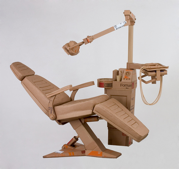 Chris Gilmour cardboard dentist chair