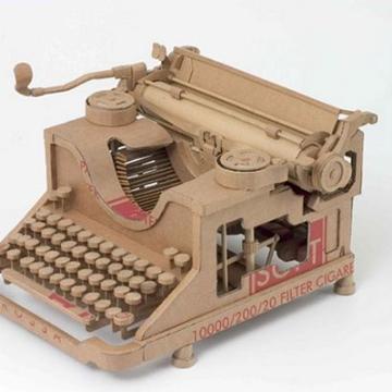 Chris Gilmour cardboard typewriter