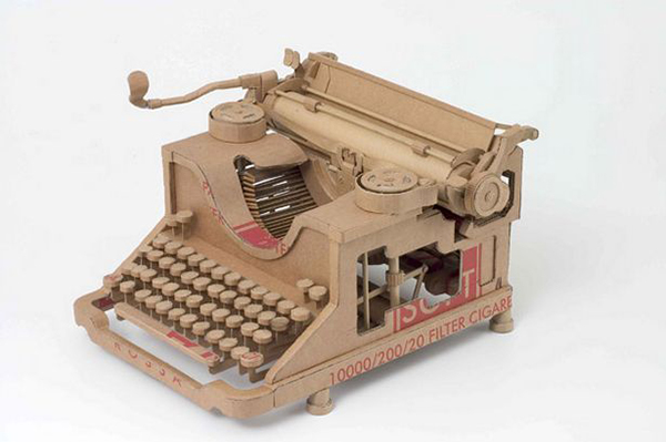 Chris Gilmour cardboard typewriter