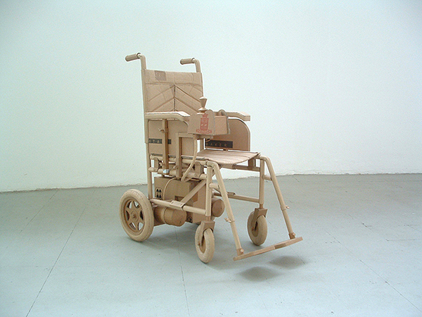 Chris Gilmour cardboard wheelchair