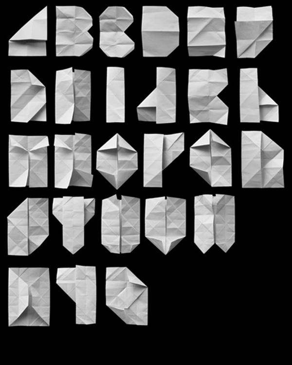 paper folded alphabet