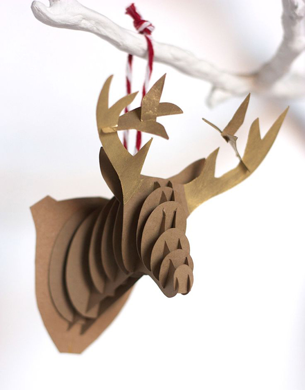 DIY PAPER REINDEER ORNAMENTS