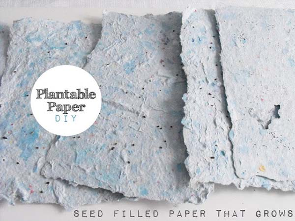 DIY plantable-paper