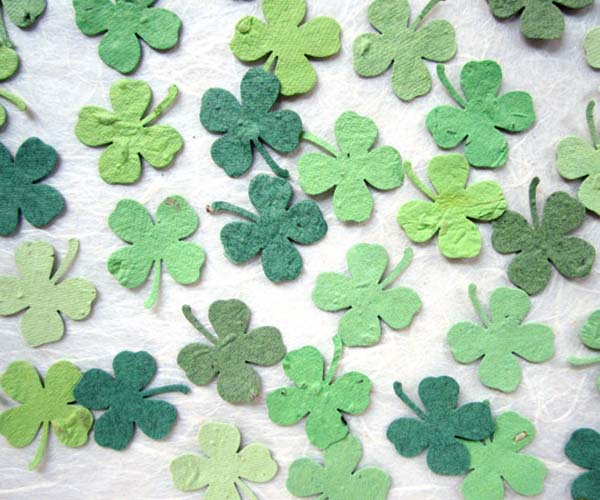 Plantable Four Leaf Clover Confetti