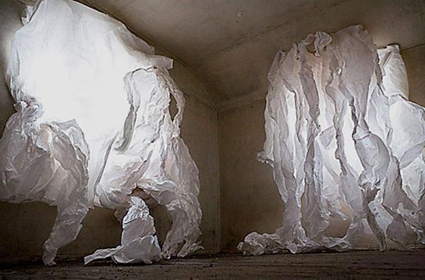 Christophe Piallat paper art installations