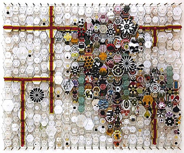 Jacob Hashimoto paper art