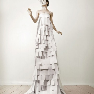 Paper dress by Coco and Roc