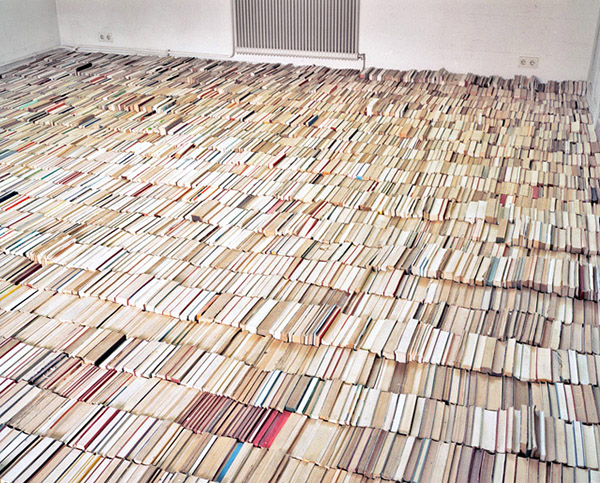 Thomas ehgartner s floor of books passion for paper print for Define floors