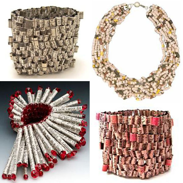 Holly Anne Mitchell newspaper jewellery
