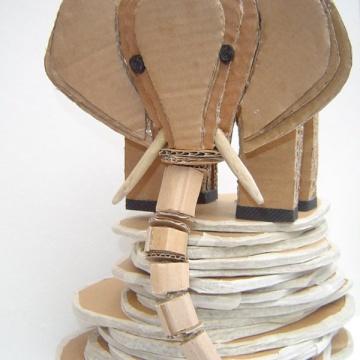 Alessandra Fiordaliso's cardboard animals