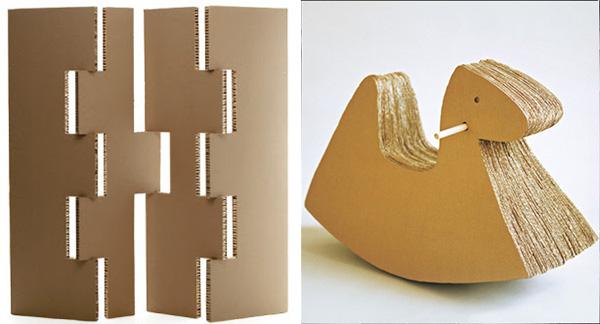 Diy Cardboard space devider and rocking horse