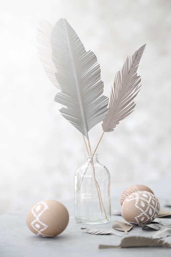 Paper Easter feathers